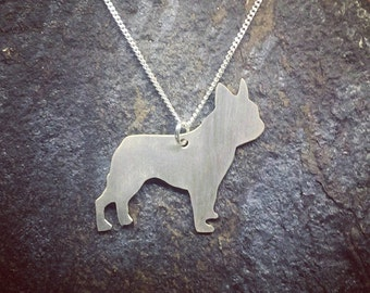 French Bulldog Sterling Silver Pendant