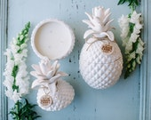 Pineapple Jar hand poured soy wax candle. 80hrs burntime, 550grams.