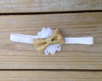 Gold Bow Girls Headband