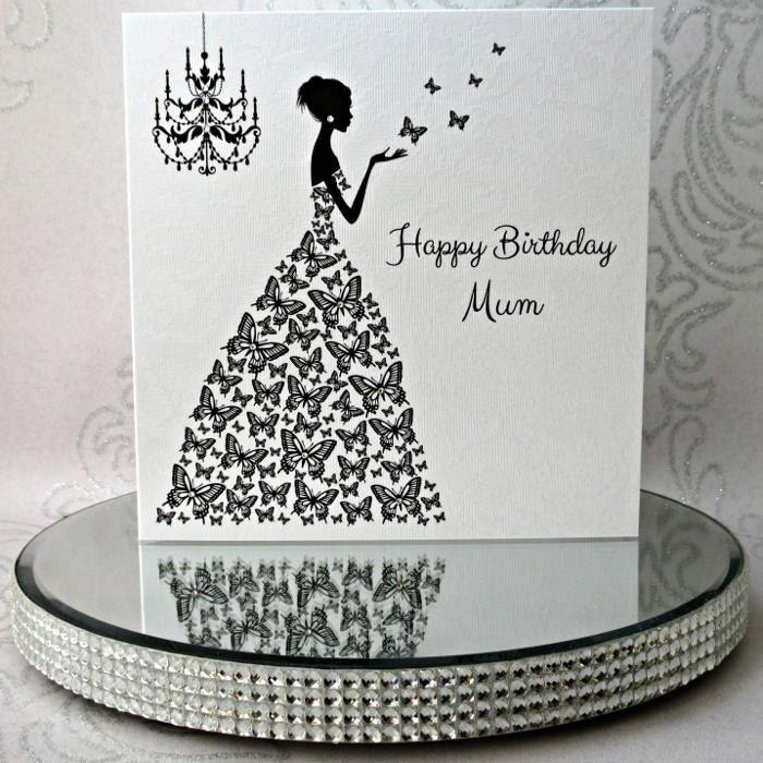 Luxury Handmade Personalised Birthday Card Lady wearing – Personalised Birthday Cards Next Day Delivery