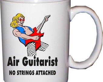 Air guitarist no strings attached - funny mug