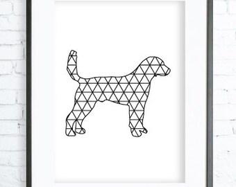 Printable Art, Geometric Animal, Animal Print, Art Printable, Dog Art, Dog Wall Art, Geometric Wall Prints, Animal Wall Print, Dorm Decor
