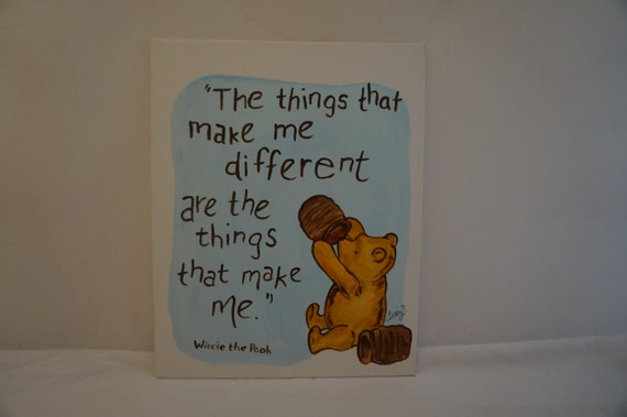 Items Similar To Classic Winnie The Pooh Hand Painted 8x10