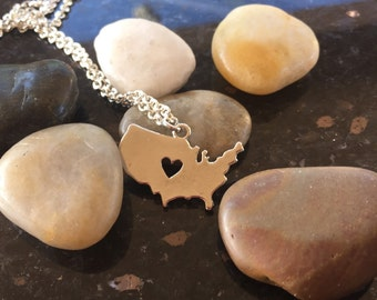 United States Heart Necklace