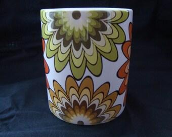 Floral Mug  Retro Mug original mug design 11oz ceramic mug UK