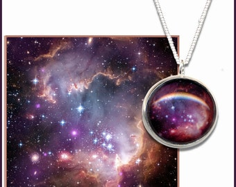 Galaxy Pendant on a sterling silver chain