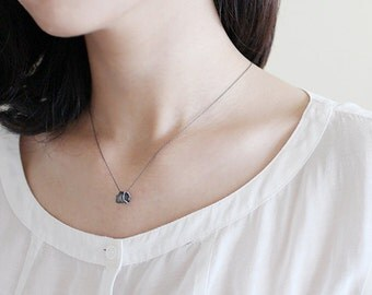 tree bark necklace 2. - black
