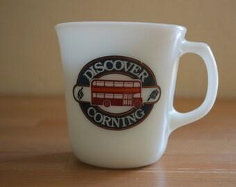 Vintage Pyrex Discover Corning Double Decker New York Coffee Mug