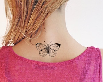 Butterfly - Temporary tattoo (Set of 2)