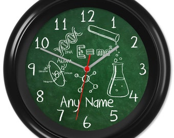Maths Clock Teacher Student Pupil Equation Chalkboard Blackboard Greenboard Classroom #4 - Can be personalised (2067)
