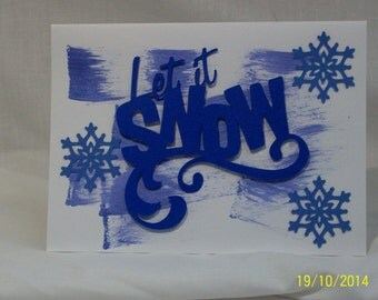 Let it Snow Homemade Christmas Card