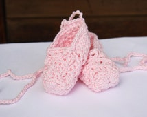 Crocheted Baby Ballet Pointe Shoes Booties Slippers
