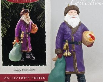 1995 Hallmark Merry Olde Santa Ornament Keepsake Christmas Santa Claus Old 6th in Series #6 MIB