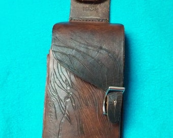 Cell phone case, leather,  for large cell phone