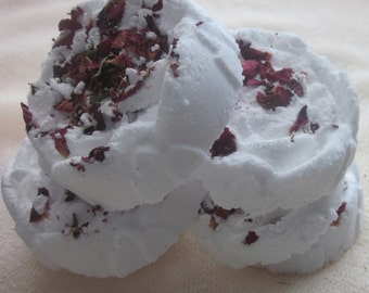 Make your own Bath Bomb Kit Rose moulds and rose petals by Mijubeauty mothers day gift uk