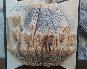 Friends - Folded Book Art - Fully Customizable, Quaker, Friend
