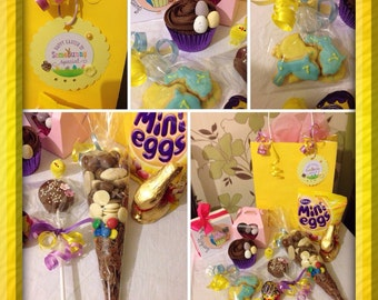 Chocolate filled Easter gift bag