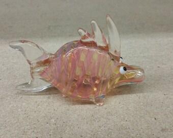 Pink Fumed Fish Pipe