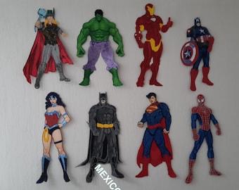 Superheros Party Big Wall Decorative foam dolls - Superhero Birthday Party Decoration.