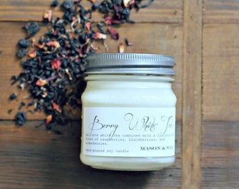 Berry WhiteTea Mason Jar Soy Candle