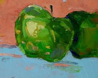 """Impressionism - Still Life - Original Oil Painting - 6""""X6"""""""