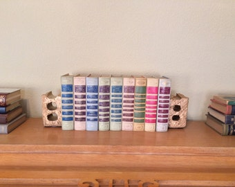 Hand Painted Gold Vintage Brick Bookend