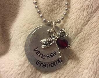Custom Two Disc Stamped Necklace