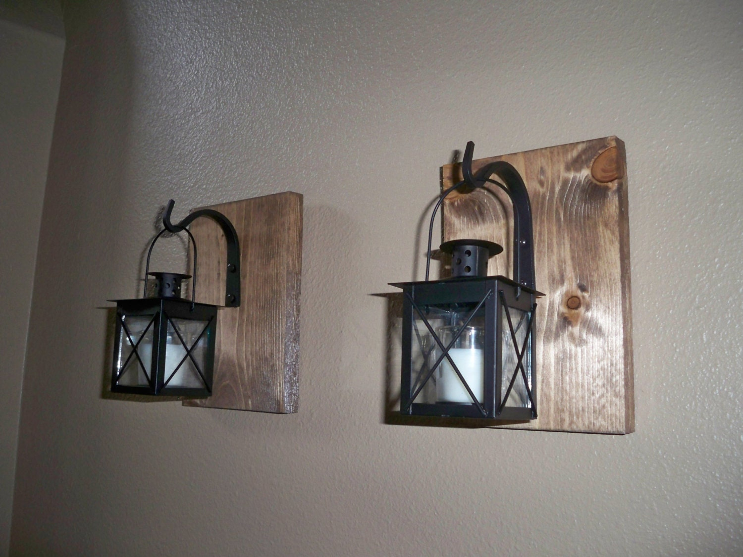 Wrought Iron Sconces Wall Decor : BLACK LANTERN set wall decor housewarming gift wrought iron