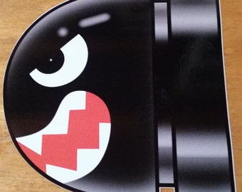Bullet Bill Sticker Decal