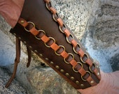 Pair of Leather Woven Bracers LARP SCA Medieval Viking Pirate Made to Order