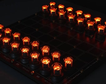 Nixie Chessboard - fully assembled IN-7 version.