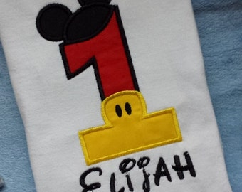 Mickey 1st Birthday Shirt