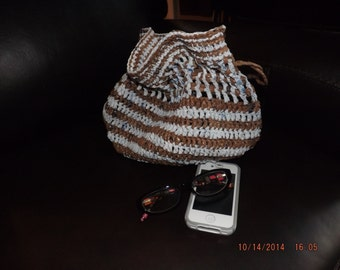 Crocheted Plarn handbag tote