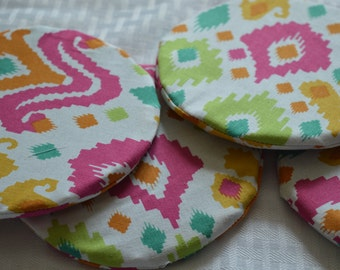 Recycled Rubber Ikat Coasters
