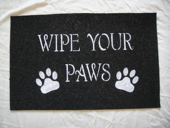 Recycled Rubber Wipe Your Paws Door Mat