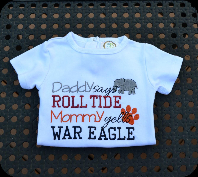 House Divided Auburn Alabama Infant Body Suit
