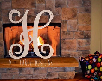 30 Inch Wooden Letters, Wooden Monogram Letter Ready for you to paint!