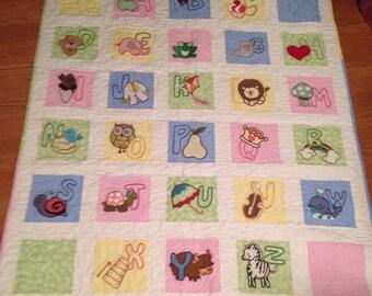 Alphabet Baby Quilt