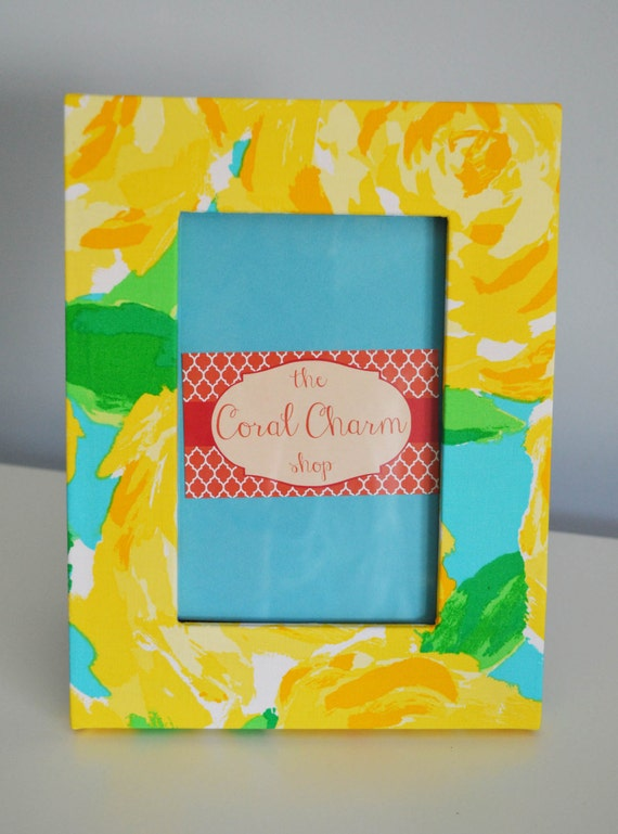 Lilly Pulitzer Sunglow Yellow First Impression Fabric Wrapped