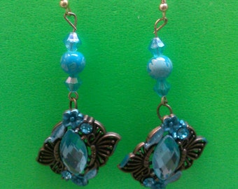 Beautiful Handmade Sky Blue Earrings.