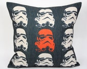 Star wars pillow cover, white pawn stormtroopers imperial soldier storm troops cotton linen throw pillow cushion cover pillowcase/home decor