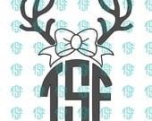 Deer Monogram w/ Bow...