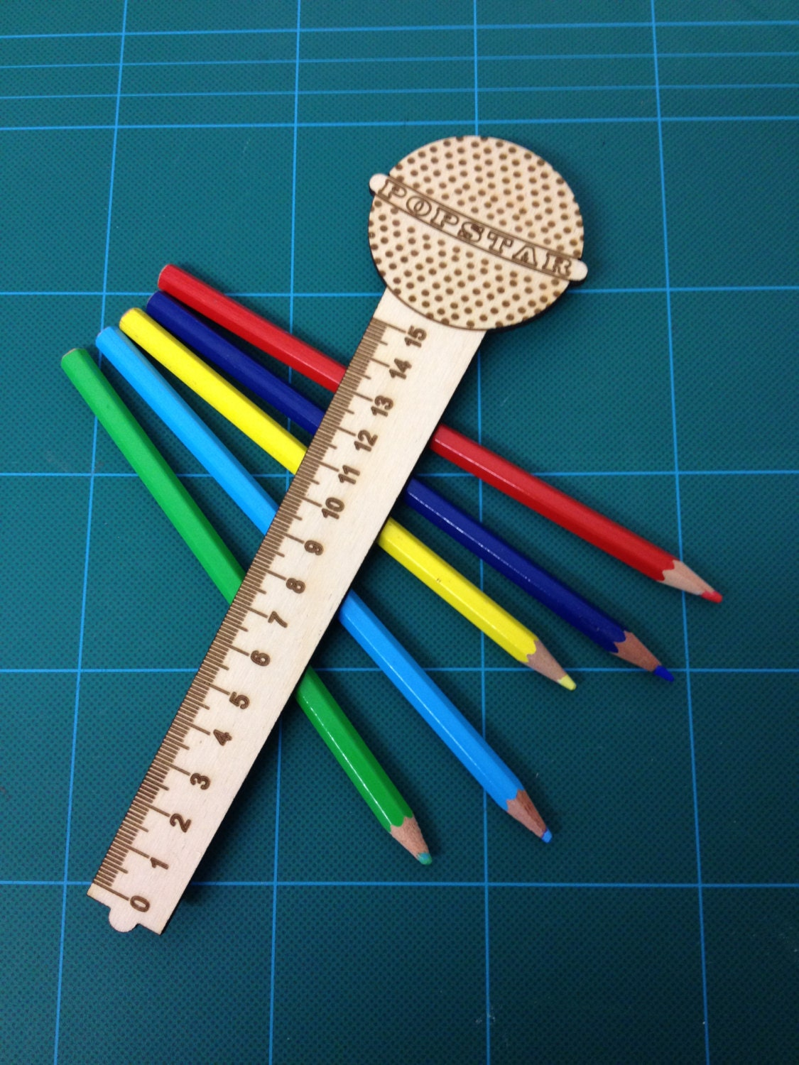Microphone Ruler From Laserdoodle On Etsy Studio