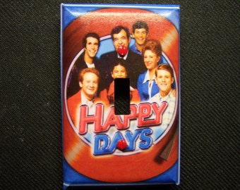 Light Switch Cover Happy Days Print