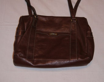 Vintage 1990's - CarryLand Leather Brown Purse