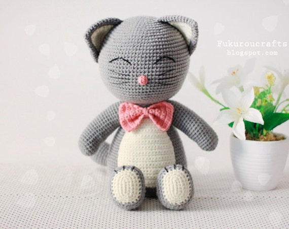 Crochet Patterns You Can Sell : Pattern: Crochet Cat Doll by FukurouCrafts on Etsy