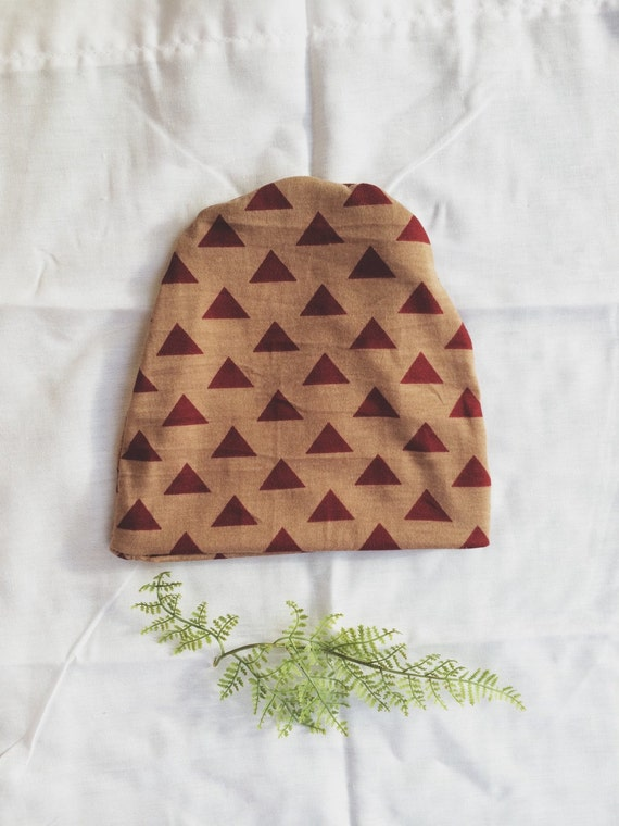 Hipster Baby Gift Ideas : Baby beanie slouchy tan and garnet by lucklagoon