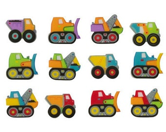SUGARSOFT Edible Printed Truck Decorations 12 Pieces!