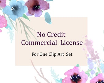 No Credit Commercial License For One Clip Art Set for Small Business
