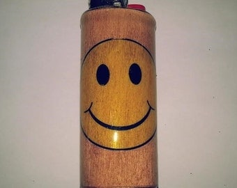 Smiley Face Lighter Case, Holder, Sleeve, Cover